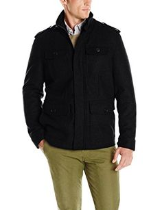 Dockers Men's Wool Four-Pocket Military Jacket Review