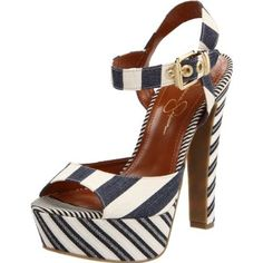 Navy striped Jessica Simpson Papaya platform
