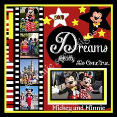 Disney Scrapbook by frieda Vacation Scrapbook, Disney Scrapbook Pages, Scrapbook Sketches, Scrapbook Page Layouts, Scrapbook Paper Crafts, Scrapbook Cards, Scrapbooking Ideas, Scrapbook Background, Scrapbook Photos