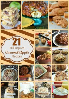 21 Fall Inspired Caramel Apple Recipes