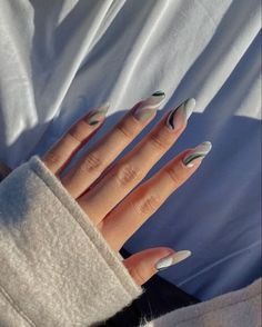 Soft Nails, Edgy Nails, Funky Nails, Stylish Nails, Gel Nails, Manicure, Almond Acrylic Nails, Best Acrylic Nails, Almond Nails