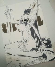 6,070 отметок «Нравится», 57 комментариев — L. Gerchel (@cre.o.n) в Instagram: «- Satsuki Kiryuin - from Kill la Kill  Commissioned Art. Thanks a lot Joe  /Character ©Trigger…»