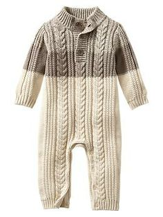 388153fc55b9 NWT New Baby Gap Boys Sherpa Cable Knit Romper 18-24m