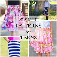 Sewing Skirts Today we are sharing 20 Skirt Patterns for Teens. Make one today! - Today we are sharing 20 Skirt Patterns for Teens. Make one today! Teen Skirts, Skirts For Kids, Dresses For Teens, Outfits For Teens, Girl Skirts, Teens Clothes, Girls Skirt Patterns, Skirt Patterns Sewing, Clothing Patterns
