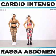 Training cardio and abdomen - Fitness 300 Workout, Gym Workout Videos, Easy Workouts, At Home Workouts, Squat Workout, Workout Challenge, Fitness Workout For Women, Body Fitness, Physical Fitness
