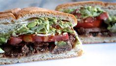 Mexican Torta Carne Asada Sandwich