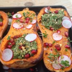Happy days. New recipe for my Baked Butternut Squash with delish Kale Pesto is now on my blog! Yay! #yum #delicious #vegan #veganfoodshare #vsco #vscocam #food #health #healthyfood #instafood #cleaneating #eatclean #fitfam #fitspo #kale #foodpic #goddessVibes #nutrition #love #Padgram
