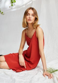 A fresh look at our romantic colors that captivate and feminine patterns that delight. Shop Now. Club Dresses, Prom Dresses, Red Silk Dress, Silk Slip, Satin Slip, Classic Trench Coat, Ladies Dress Design, Dress Collection, Lady In Red