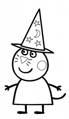 Halloween Arts And Crafts, Halloween Rocks, Halloween Pictures, Halloween Projects, Free Printable Coloring Pages, Coloring Pages For Kids, Coloring Books, Pig Drawing, Drawing For Kids
