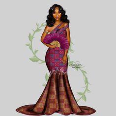 Her Bridal Style Journey African Men Fashion, African Fashion Dresses, African Beauty, African Women, African Outfits, African Clothes, Ankara Fashion, Black Girl Art, Black Women Art
