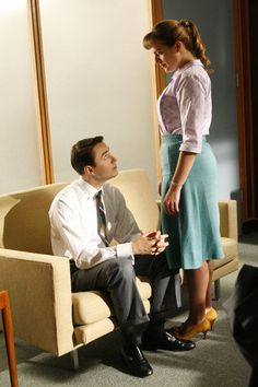 #MadMen..I love the sexual tension in the office.