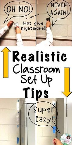 Check out these practical tips for setting up your classroom and avoiding common rookie mistakes. I compiled a list of my best suggestions in this fun and usef Classroom Hacks, Classroom Setting, Music Classroom, Classroom Setup, Future Classroom, Classroom Design, Classroom Arrangement, Classroom Teacher, Highschool Classroom Decor