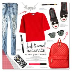 """""""School is BACK"""" by justlovedesign ❤ liked on Polyvore featuring American Eagle Outfitters, Alice + Olivia, M Z Wallace, Carven, Daniel Wellington, Ray-Ban, Hervé Léger, Illamasqua, Sisley Paris and BackToSchool"""