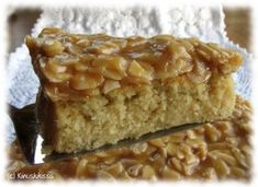 One of my favourites: Finnish toscakakku (with caramelly almond topping). Finnish Recipes, Sweet Pastries, Almond Cakes, Pastry Cake, No Bake Cake, Yummy Cakes, Cupcake Cakes, Cake Recipes, Sweet Tooth
