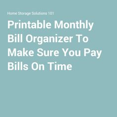 ... Bill Pay Organizer on Pinterest | Bill Pay, Personal Finance and