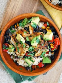 Frugal Food Items - How To Prepare Dinner And Luxuriate In Delightful Meals Without Having Shelling Out A Fortune Fish Taco Bowls With Brown Rice, Black Beans, Corn, And Avocado - Substitute Quinoa For The Rice, Or Just Serve Over Lettuce Fish Recipes, Seafood Recipes, Mexican Food Recipes, Cooking Recipes, Healthy Recipes, Advocare Recipes, Cooking Tips, Tilapia Recipes, Cod Recipes