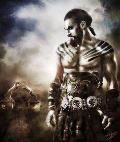 Khal Drogo by bennyotavio on DeviantArt A Clash Of Kings, A Dance With Dragons, Wolf, George Rr Martin, Viking Life, Game Of Thrones Art, Jaime Lannister, Got Game, Khal Drogo