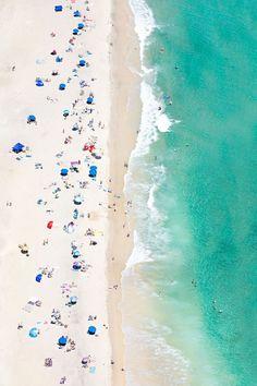 Crescent Beach, Rhode Island beach aerial by Gray Malin Aerial Photography, Beach Photography, Levitation Photography, Experimental Photography, Exposure Photography, Rhode Island Beaches, Beach Hacks, Beach Scenes, Illustrations