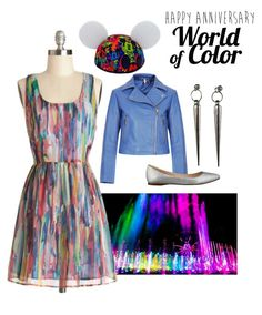 Happy Anniversary to World of Color! I would actually wear the entire outfit! Maybe minus the earrings.