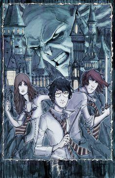 Harry, Hermione, Ron and Tom by Walter-Ostlie.deviantart.com on @deviantART
