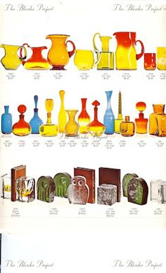 The Blenko Project is dedicated to recording the past, analyzing the present and being an advocate for the growth and preservation of BLENKO GLASS. Maximalist Interior, Blenko Glass, Art Of Glass, Antique Glassware, Carnival Glass, Glass Collection, Boho Decor, Preserves, Vintage Antiques