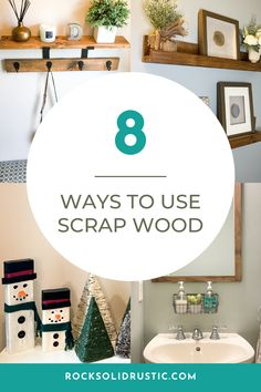 Clean out you garage and make home decor for free! These DIY projects are so easy to make from scrap wood that you have laying around. #scrapwood #diydecor #farmhouse #diywoodprojects #farmhousedecor Small Wood Projects, Scrap Wood Projects, Cool Woodworking Projects, Pallet Projects, Diy Projects, Recycled Door, Recycled Crafts, Wood Crafts, Small Furniture