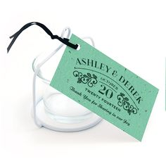 Vintage Plantable Favor Tag
