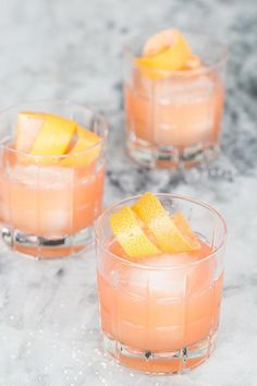 We did a little cocktail mixing and shaking a few weeks ago and created this beauty! It's an Italian Paloma and it has grapefruit, orange, tequila, lemon juice, Campari and a few other ingredients. It's VERY tasty and can we all just take a minute to appr Fruity Cocktails, Winter Cocktails, Easy Cocktails, Cocktail Drinks, Cocktail Ideas, Italian Cocktails, Easy Tequila Drinks, Aquavit Cocktails, Cocktail Recipes For A Crowd