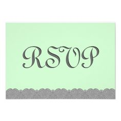 #Green #Gray #Lace #RSVP #Wedding #Response #Announcements http://www.zazzle.com/green_and_gray_lace_rsvp_wedding_response_v038_invitation-161061315532006908