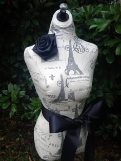 Paris Dress Form jewelry display with wood by reminiscejewels
