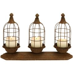 Weathered metal candleholder.Product: CandleholderConstruction Material: MetalColor: Brown...