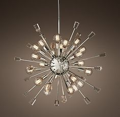 RH's Italian Starburst Chandelier- for foyer Bedroom Light Fixtures, Hanging Light Fixtures, Ceiling Light Fixtures, Hanging Lights, Led Ceiling Lamp, Ceiling Lights, Round Ceiling Light, Chandelier For Sale, Master Bath