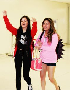 // Camila Cabello and Ally Brooke Fifth Harmony Ally, Fith Harmony, Ally Brooke Hernandez, Alex And Sierra, Cimorelli, Best Dance, Ellie Goulding, Dance Moves, American Singers