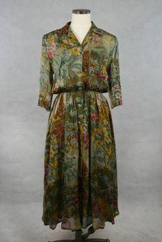 Sommerleichtes Seidenkleid von Jil Sander online kaufen - Grösse 38 - Marke JIL SANDER | Vintage-Fashion Online Shop fürs Verkaufen und Kauf...