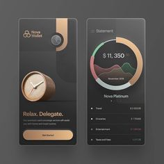Luxury budget app design by STFN⠀ -⠀⠀⠀⠀⠀⠀⠀⠀⠀⠀⠀⠀⠀⠀⠀⠀⠀⠀ ✨ Follow @uxdesignday for daily UI / UX inspiration in your feed✨⠀⠀⠀⠀⠀⠀⠀⠀⠀⠀⠀⠀⠀⠀…