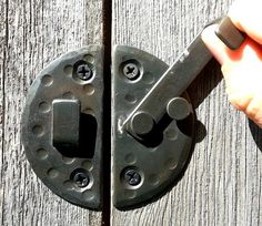 2.9 Round CABINET DOOR LATCH Wrought Iron by TribesIronHardware