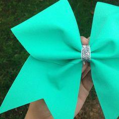 Tiffany Blue/Mint Cheer bow by BowSugar on Etsy