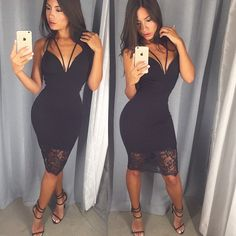 Black dress/   Hey gorgeous, want to see more pins like this? Make sure to follow me @anillaud