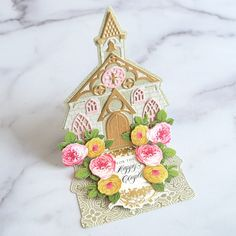 Charm School - Church Easel Dies Made Easy! - Anna Griffin Wedding Humor, Wedding Cards, Anna Griffin Cards, Shaped Cards, Easel Cards, Scrapbook Page Layouts, Card Tutorials, Make It Simple, Birthday Cards