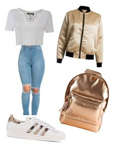 """Gold"" by lizzycas on Polyvore featuring Pilot, adidas Originals, Mi-Pac and Sans Souci"