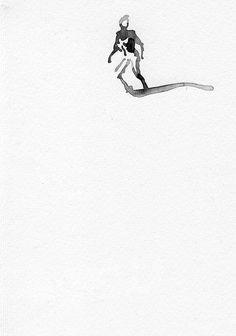 """""""Escape"""" by Konrad Stafinski - Watercolor on Paper - 2014"""