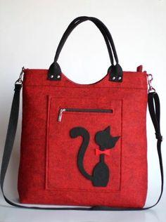 Diy Bags Purses, Purses And Handbags, Denim Handbags, Leather Handbags, Diy Bag Designs, Felt Purse, Diy Tote Bag, Cat Bag, Leather Bags Handmade