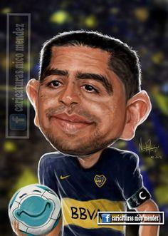 "(Caricatura) Román Riquelme "" La pelota está feliz"" / Boca Juniors"