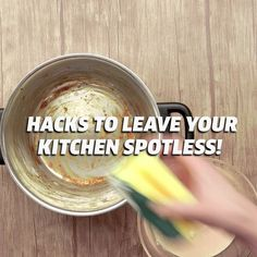 These tips and tricks will make the process of cleaning your kitchen from top to bottom a breeze! hacks tips and tricks videos Hacks To Leave Your Kitchen Spotless! Diy Home Cleaning, Homemade Cleaning Products, Household Cleaning Tips, Cleaning Recipes, House Cleaning Tips, Natural Cleaning Products, Deep Cleaning, Cleaning Hacks, Clean House Tips