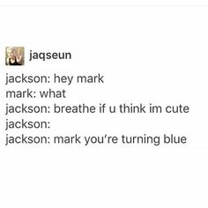 Markson is real though they arnt actually like that I mean all the time Got7 Funny, Got7 Meme, Wang Jackson, Got7 Jackson, Youngjae, Yugyeom, Bts E Got7, Kpop Memes, Funny Memes