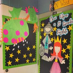 summer bulletin board decor & classroom door decor ideas for Castle Classroom, Classroom Door, Forest Classroom, Classroom Decor Themes, Classroom Displays, Fairy Tale Theme, Fairy Tales, School Wide Themes, Summer Bulletin Boards