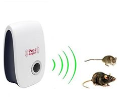 Nihao Pest Control Ultrasonic Repeller Electronic Plug In Repeller for Insects Preferable Repellent for Cockroach Rodents Flies Roaches Ants Spiders Fleas Mice >>> Click image for more details. (This is an affiliate link) #PestControlTraps