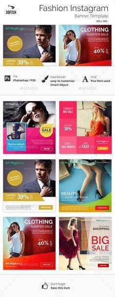 Fashion Instagram Banner Template #design Download: http://graphicriver.net/item/fashion-instagram-banner/12241922?ref=ksioks