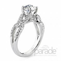 Riddle's Jewelry Ladies Parade™ White Gold Diamond Semi-Mount (16420137)