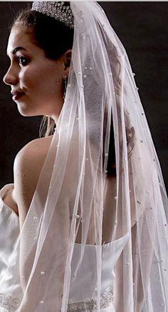 Crystal Wedding, Lace Wedding, Crystal Cathedral, Cathedral Wedding Veils, Blusher, Pearls, Bridal, Beautiful, Elegant